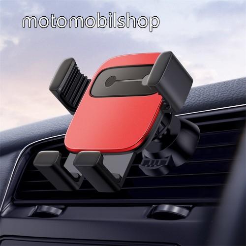 """BASEUS Gravity Cube univerzális autós / gépkocsi tartó - PIROS - szellőzőrácsra rögzíthető, 4,7-6,6""""-os készülékekhez - GYÁRI"""
