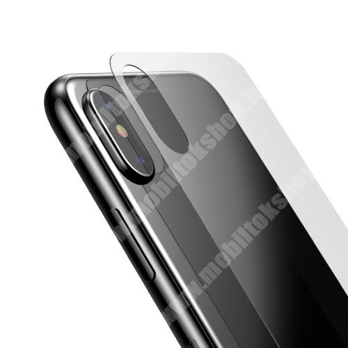 APPLE iPhone XS BASEUS hátlap védő karcálló edzett üveg - 0,33mm - APPLE iPhone X / APPLE iPhone XS - GYÁRI