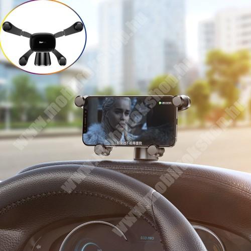 LG G4c (H525N) BASEUS Horizontal Gravity autós / gépkocsi tartó - műszerfalra ragasztható, 360°-ban forgatható - FEKETE - GYÁRI