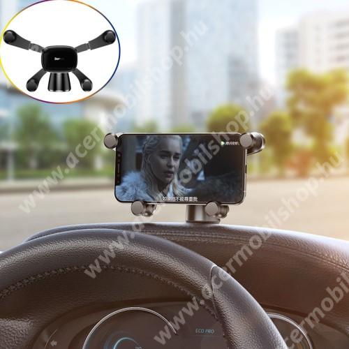 ACER Liquid Z3 BASEUS Horizontal Gravity autós / gépkocsi tartó - műszerfalra ragasztható, 360°-ban forgatható - FEKETE - GYÁRI