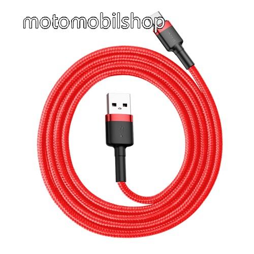 MOTOROLA Moto Z Play BASEUS Kevlar Series 3A adatátviteli kábel, USB töltő - Type-C / USB, 1m, szövettel bevont, 5V/3A és 9V/2A gyorstöltés támogatás - PIROS - GYÁRI