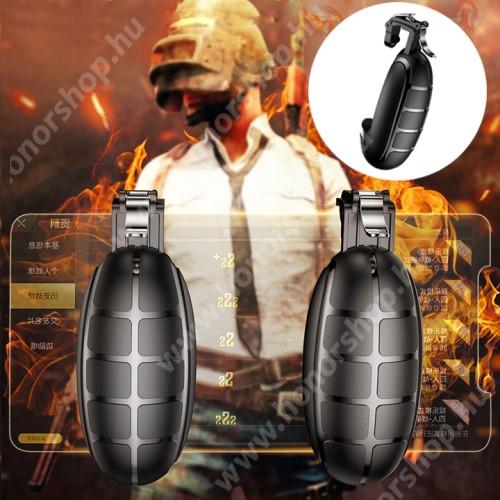 HUAWEI Honor V40 5G BASEUS Kontroller / Joystick - GRÁNÁT FORMÁJÚ - ravasz PUBG, STG, FPS, TPS lövöldözős játékokhoz, max 83mm széles készülékekkel kompatibilis - FEKETE - GYÁRI