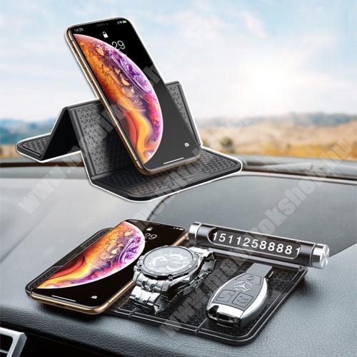PRESTIGIO MultiPhone 5300 Duo BASEUS Magic Sticky UNIVERZÁLIS csúszásgátló gépkocsi tartó pad műszerfalra - 205 x 122mm - NANO-PAD tulajdonság - FEKETE - GYÁRI