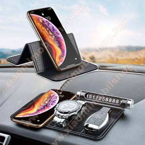 BASEUS Magic Sticky UNIVERZÁLIS csúszásgátló gépkocsi tartó pad műszerfalra - 205 x 122mm - NANO-PAD tulajdonság - FEKETE - GYÁRI