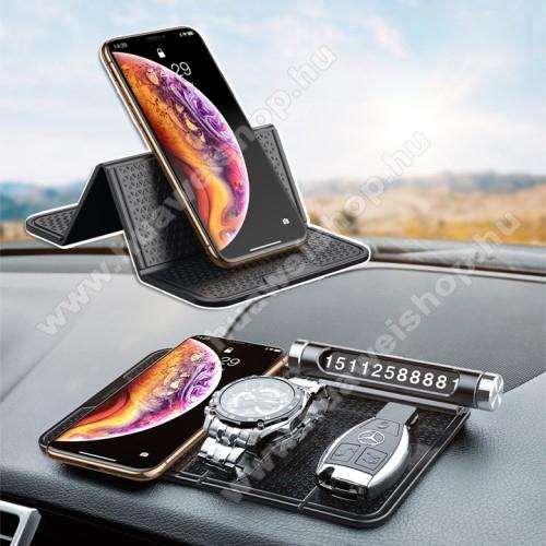 HUAWEI T-Mobile Vairy Text II.BASEUS Magic Sticky UNIVERZÁLIS csúszásgátló gépkocsi tartó pad műszerfalra - 205 x 122mm - NANO-PAD tulajdonság - FEKETE - GYÁRI