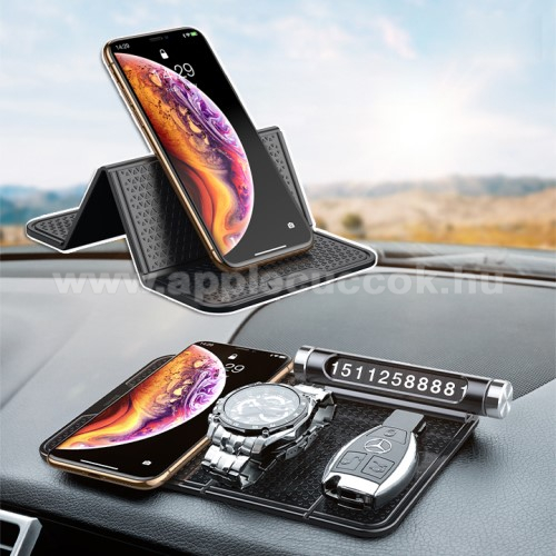 APPLE iPad Pro 12.9 (2017)BASEUS Magic Sticky UNIVERZÁLIS csúszásgátló gépkocsi tartó pad műszerfalra - 205 x 122mm - NANO-PAD tulajdonság - FEKETE - GYÁRI