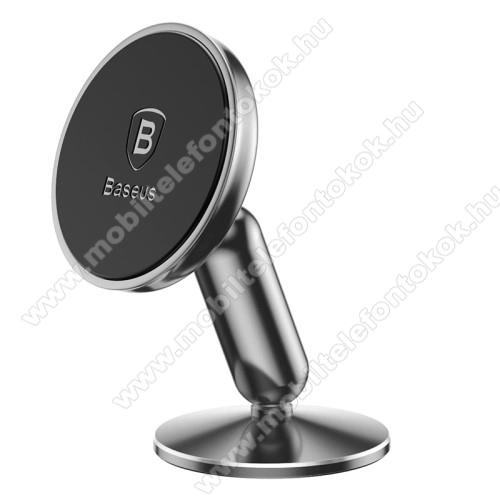 LG G5 (H850)BASEUS Magnetic autós / gépkocsi tartó - mágneses, műszerfalra rögzíthető, 360°-ban elforgatható - EZÜST - GYÁRI
