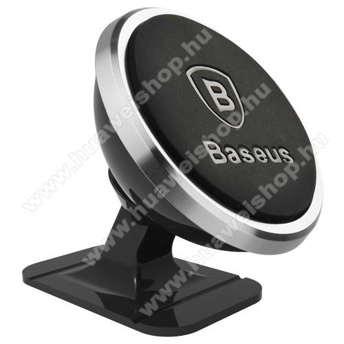 BASEUS Magnetic autós / gépkocsi tartó - mágneses, 360°-ban elforgatható, műszerfalra ragasztható - EZÜST - 35 x 40 x 35mm - GYÁRI