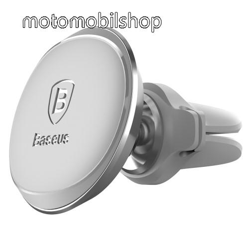 MOTOROLA Motoluxe (XT615) BASEUS Magnetic autós / gépkocsi tartó - mágneses, szellőzőrácsra rögzíthető - EZÜST - GYÁRI