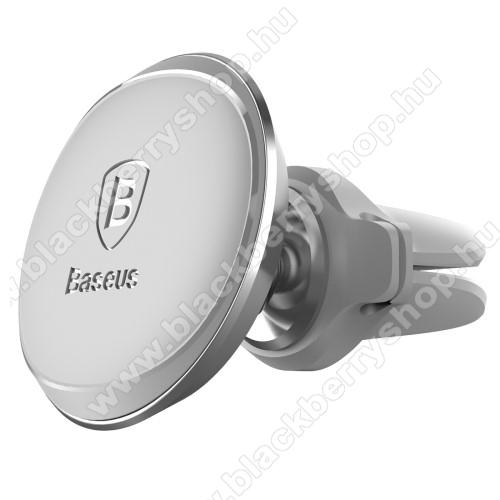 BLACKBERRY 9320 CurveBASEUS Magnetic autós / gépkocsi tartó - mágneses, szellőzőrácsra rögzíthető - EZÜST - GYÁRI