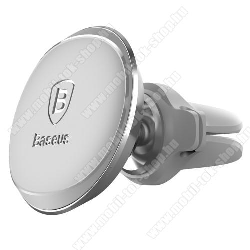 BASEUS Magnetic autós / gépkocsi tartó - mágneses, szellőzőrácsra rögzíthető - EZÜST - GYÁRI