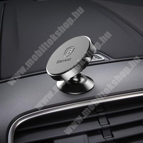 SAMSUNG SGH-F520 BASEUS Magnetic autós / gépkocsi tartó - mágneses, műszerfalra rögzíthető - FEKETE - GYÁRI