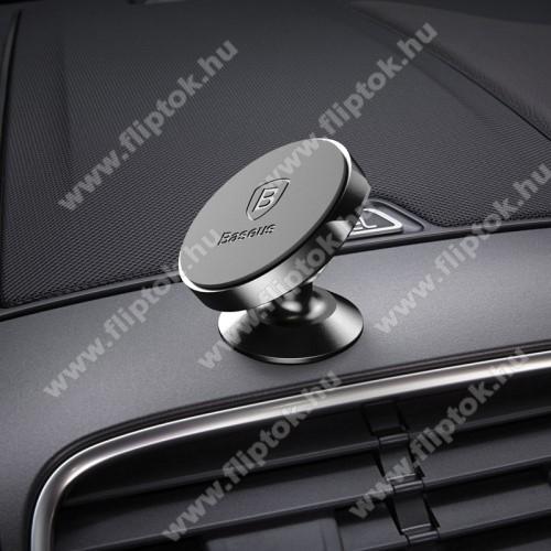 Motorola Moto E6BASEUS Magnetic autós / gépkocsi tartó - mágneses, műszerfalra rögzíthető - FEKETE - GYÁRI