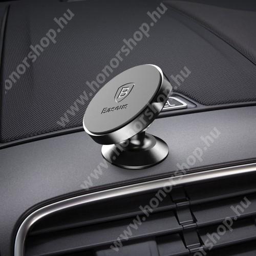 HUAWEI Honor 9 BASEUS Magnetic autós / gépkocsi tartó - mágneses, műszerfalra rögzíthető - FEKETE - GYÁRI