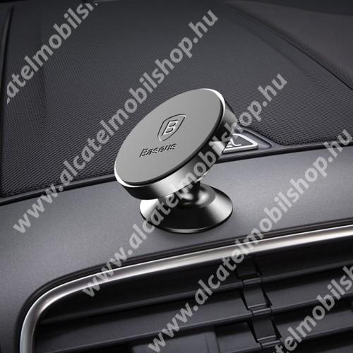 BASEUS Magnetic autós / gépkocsi tartó - mágneses, műszerfalra rögzíthető - FEKETE - GYÁRI