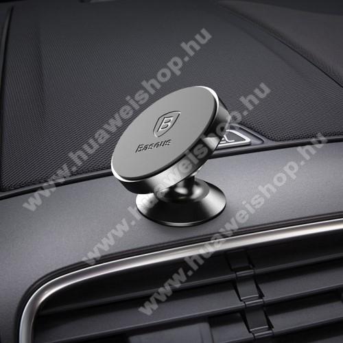 HUAWEI Ascend P7BASEUS Magnetic autós / gépkocsi tartó - mágneses, műszerfalra rögzíthető - FEKETE - GYÁRI