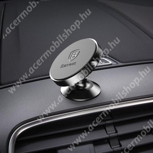 ACER beTouch T500 BASEUS Magnetic autós / gépkocsi tartó - mágneses, műszerfalra rögzíthető - FEKETE - GYÁRI