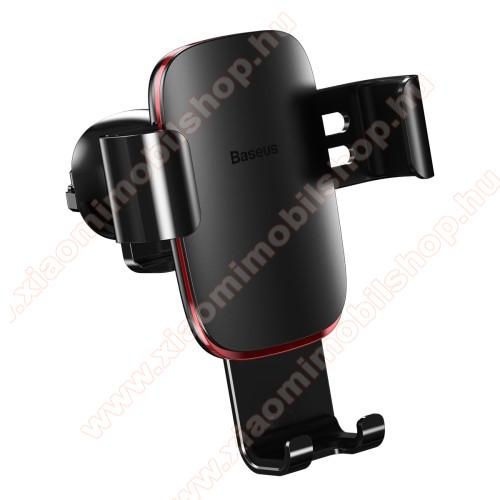 Xiaomi MI-2sBASEUS Metal Gravity univerzális autós / gépkocsi tartó - FEKETE - alumínium, szellőzőrácsra rögzíthető, 63-88 mm-ig állítható bölcső, 4-6