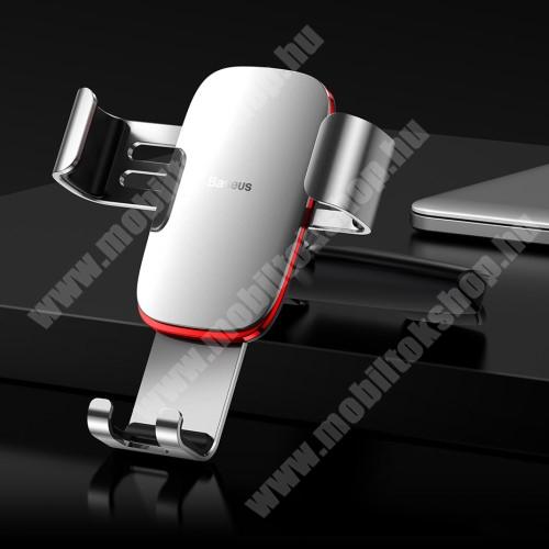 Blackview R6 Lite BASEUS Metal Gravity univerzális autós / gépkocsi tartó - EZÜST - CD / DVD lejátszóba helyezhető, 63-88 mm-ig állítható bölcső - GYÁRI