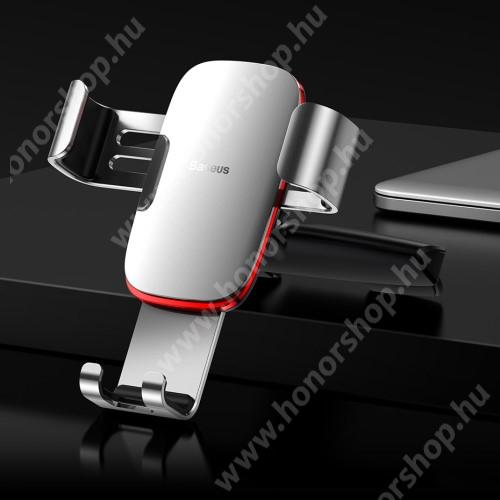 HUAWEI Honor 3C Play BASEUS Metal Gravity univerzális autós / gépkocsi tartó - EZÜST - CD / DVD lejátszóba helyezhető, 63-88 mm-ig állítható bölcső - GYÁRI