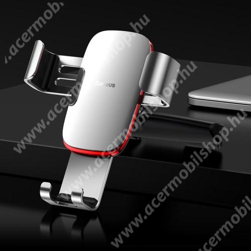 ACER Liquid Z3 BASEUS Metal Gravity univerzális autós / gépkocsi tartó - EZÜST - CD / DVD lejátszóba helyezhető, 63-88 mm-ig állítható bölcső - GYÁRI