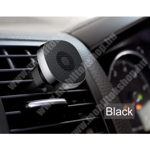HUAWEI Ascend G525 BASEUS Privity autós / gépkocsi tartó - mágneses, szellőzőrácsra rögzíthető - FEKETE - GYÁRI