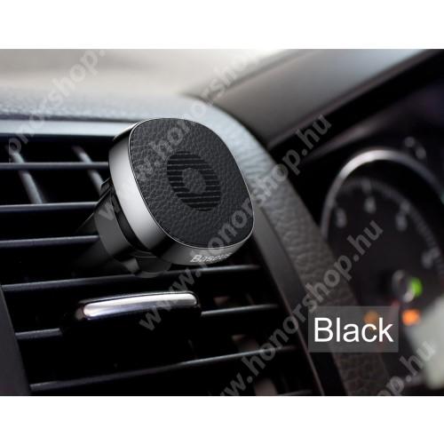 HUAWEI Honor 9 BASEUS Privity autós / gépkocsi tartó - mágneses, szellőzőrácsra rögzíthető - FEKETE - GYÁRI