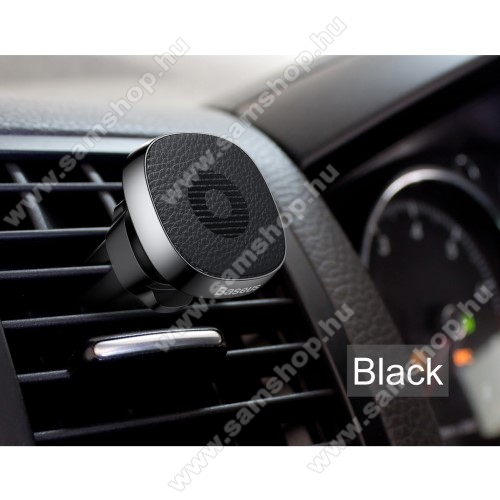 SAMSUNG GT-C3510 GenoaBASEUS Privity autós / gépkocsi tartó - mágneses, szellőzőrácsra rögzíthető - FEKETE - GYÁRI