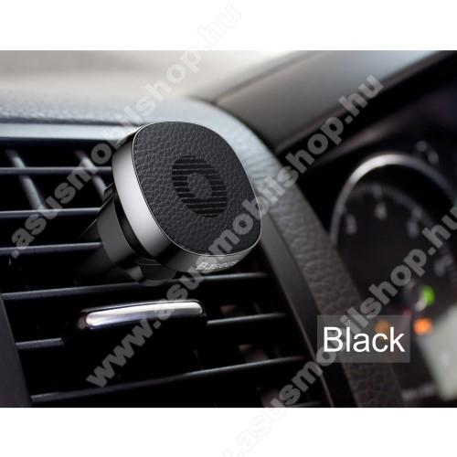 ASUS Zenfone V (V520KL)BASEUS Privity autós / gépkocsi tartó - mágneses, szellőzőrácsra rögzíthető - FEKETE - GYÁRI