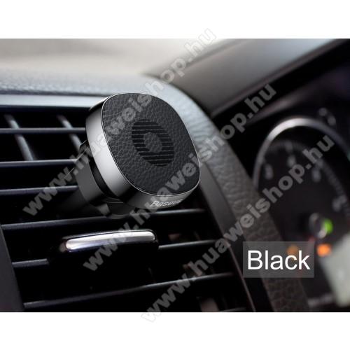 Huawei Ascend P6BASEUS Privity autós / gépkocsi tartó - mágneses, szellőzőrácsra rögzíthető - FEKETE - GYÁRI