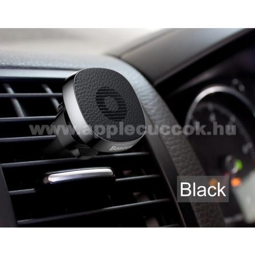 APPLE iPhone 6s PlusBASEUS Privity autós / gépkocsi tartó - mágneses, szellőzőrácsra rögzíthető - FEKETE - GYÁRI