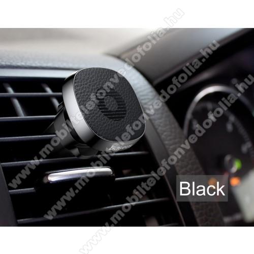 Xiaomi Poco M2 ProBASEUS Privity autós / gépkocsi tartó - mágneses, szellőzőrácsra rögzíthető - FEKETE - GYÁRI