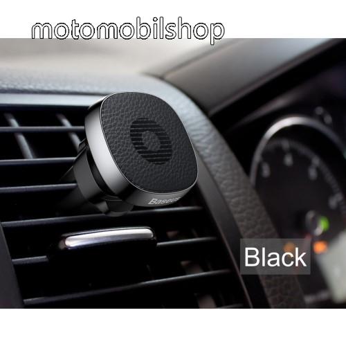 MOTOROLA W490 BASEUS Privity autós / gépkocsi tartó - mágneses, szellőzőrácsra rögzíthető - FEKETE - GYÁRI