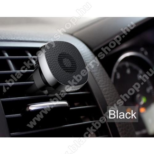 BLACKBERRY 9790 Onyx III.BASEUS Privity autós / gépkocsi tartó - mágneses, szellőzőrácsra rögzíthető - FEKETE - GYÁRI