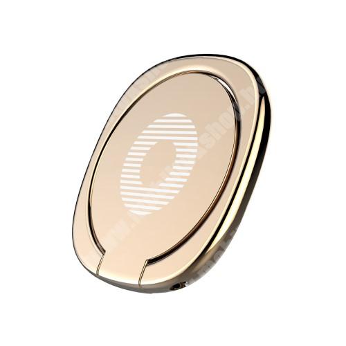 PHILIPS W3568 BASEUS Privity ujjtámasz, gyűrű tartó - Biztos fogás készülékéhez, asztali tartó funkció, 180°-ban forgatható, tapadófelület mágneses autós tartóhoz - ARANY - GYÁRI