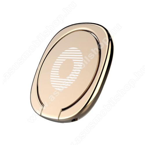 ASUS Zenfone 2 Laser (ZE500KL)BASEUS Privity ujjtámasz, gyűrű tartó - Biztos fogás készülékéhez, asztali tartó funkció, 180°-ban forgatható, tapadófelület mágneses autós tartóhoz - ARANY - GYÁRI