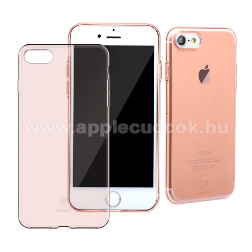 BASEUS Simple szilikon védő tok / hátlap - ROSE GOLD - ultravékony, fényes - APPLE iPhone 7 (4.7)  / APPLE iPhone 8 (4.7)  - GYÁRI