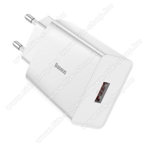 SAMSUNG Galaxy Tab Active Pro (Wi-Fi) (SM-T545)BASEUS Speed Mini hálózati töltő - 1 x USB aljzattal, QC3.0, DC 5V/3A 9V/2A 12V/1.5A Max., 18W gyorstöltés támogatás - FEHÉR - GYÁRI