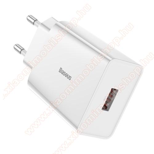 Xiaomi Mi 4cBASEUS Speed Mini hálózati töltő - 1 x USB aljzattal, QC3.0, DC 5V/3A 9V/2A 12V/1.5A Max., 18W gyorstöltés támogatás - FEHÉR - GYÁRI
