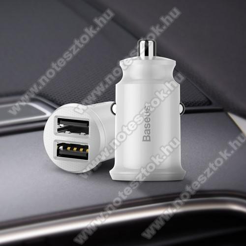 SAMSUNG SM-G770F Galaxy S10 LiteBASEUS szivargyújtós töltő / autós töltő - 2 x USB aljzat, 5V / 3.1A, kábel NÉLKÜL! - FEHÉR - GYÁRI