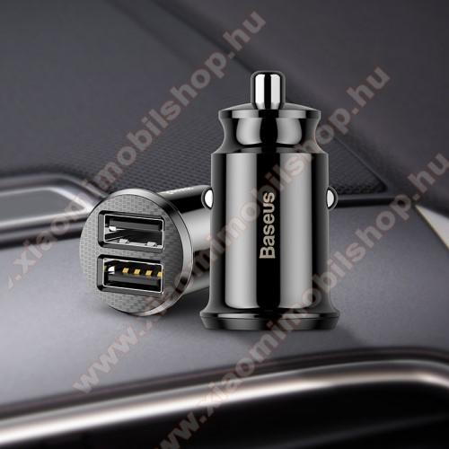 Xiaomi Mi A2BASEUS szivargyújtós töltő / autós töltő - 2 x USB aljzat, 5V / 3.1A, kábel NÉLKÜL! - FEKETE - GYÁRI