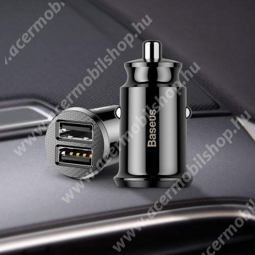 ACER Iconia Tab A3-A20 BASEUS szivargyújtós töltő / autós töltő - 2 x USB aljzat, 5V / 3.1A, kábel NÉLKÜL! - FEKETE - GYÁRI