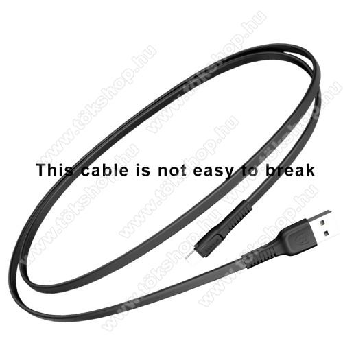 OnePlus 8T (KB2001)BASEUS Tough Series adatátviteli kábel és USB töltő - FEKETE - 2A, Type-C / USB, 1m, lapos kábelkivitel - GYÁRI