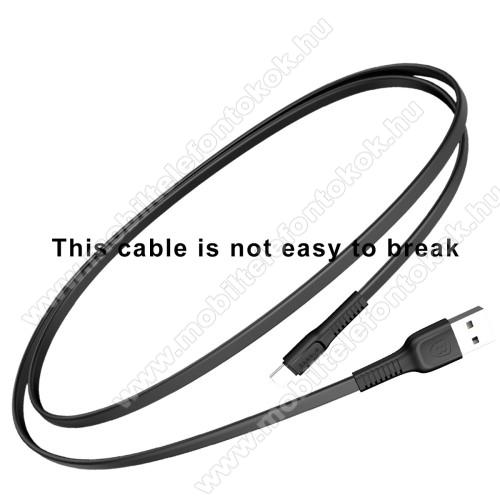 LG W31 PlusBASEUS Tough Series adatátviteli kábel és USB töltő - FEKETE - 2A, Type-C / USB, 1m, lapos kábelkivitel - GYÁRI