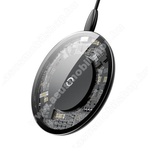 BASEUS UFO QI Wireless hálózati töltő állomás vezeték nélküli töltéshez - ÁTLÁTSZÓ - fogadóegység nélkül!, kimenet 5V/2A 9V/1,67A (Max) - GYÁRI