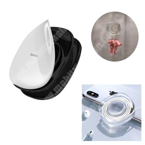 Elephone P3000 BASEUS UNIVERZÁLIS fali / gépkocsi tartó - nanotechnológia, öntapadós, falra ragasztható, kábel szerevező - FEKETE - GYÁRI