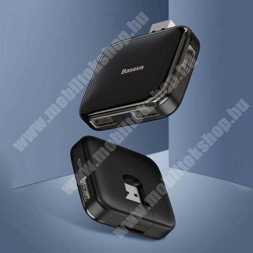 MOTOROLA Moto G4 BASEUS USB elosztó - 5 portos 4db USB 2.0 HUB + 1db microUSB port, átviteli sebesség 480Mbps, microUSB kimente 5V / 4TB-ig - FEKETE - GYÁRI