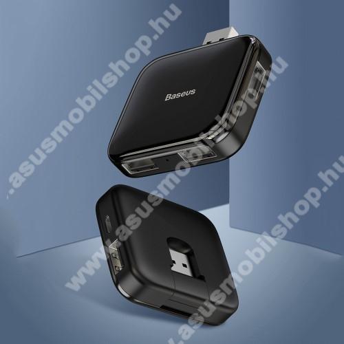 ASUS Zenfone 2 Laser (ZE500KL)BASEUS USB elosztó - 5 portos 4db USB 2.0 HUB + 1db microUSB port, átviteli sebesség 480Mbps, microUSB kimente 5V / 4TB-ig - FEKETE - GYÁRI