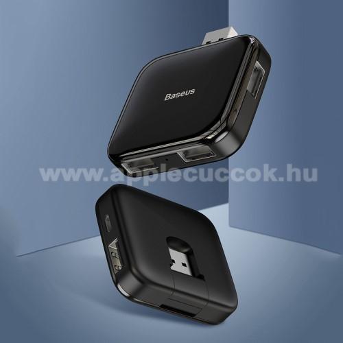 BASEUS USB elosztó - 5 portos 4db USB 2.0 HUB + 1db microUSB port, átviteli sebesség 480Mbps, microUSB kimente 5V / 4TB-ig - FEKETE - GYÁRI