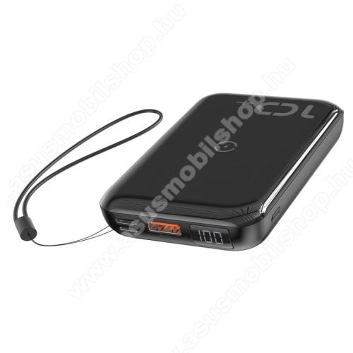 ASUS Fonepad 7 (2015) FE375CLBASEUS vésztöltő töltő / hordozható töltő / QI Wireless hálózati töltő állomás - 10000mAh, 18W (max), QI 10W(max), fogadóegység nélkül!, MicroUSB bemenet, Type-C be/kimenet 5V/3A; 9V/2A; 12V/1,5A, USB kimenet 5V/3A; 9V/2A; 12V/1,5A - FEKETE - GYÁRI